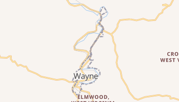 Wayne, West Virginia map