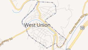 West Union, West Virginia map