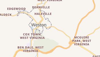 Weston, West Virginia map