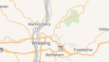Wheeling, West Virginia map