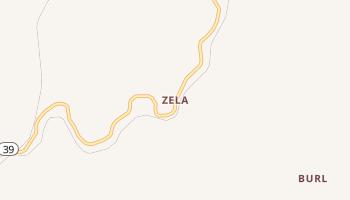 Zela, West Virginia map