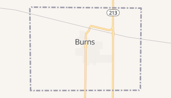 Burns, Wyoming map