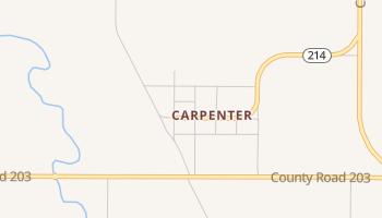 Carpenter, Wyoming map