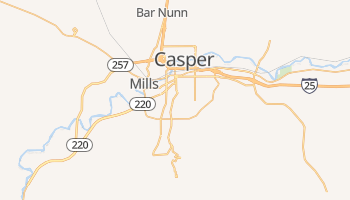Casper, Wyoming map