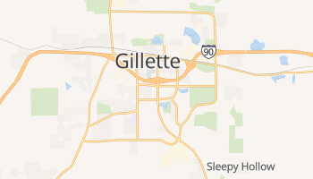 Gillette, Wyoming map
