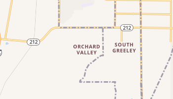 Orchard Valley, Wyoming map