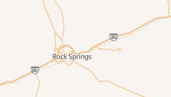 Rock Springs, Wyoming map