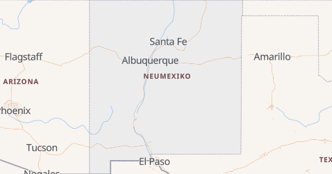 Karte von New-Mexiko