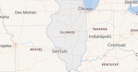 Mapa de Illinois
