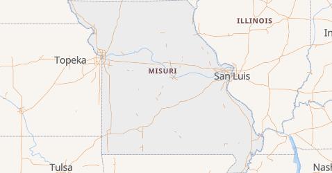 Mapa de Misuri