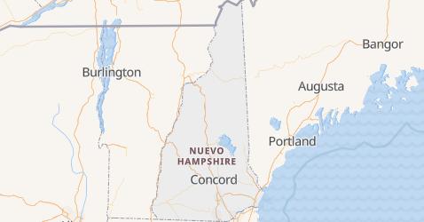 Mapa de Nueva Hampshire
