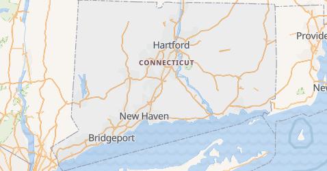 Carte de Connecticut