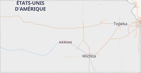 Carte de Kansas