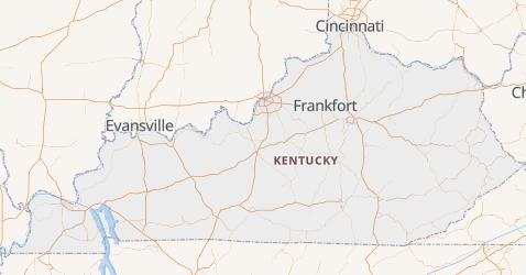 Carte de Kentucky
