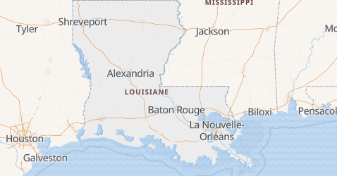 Carte de Louisiane