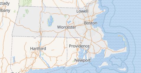 Carte de Massachusetts