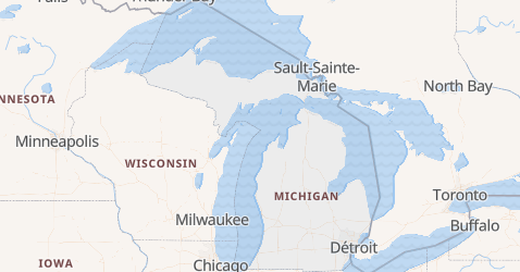 Carte de Michigan