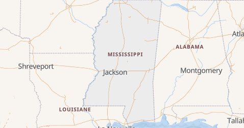 Carte de Mississippi