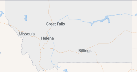 Carte de Montana