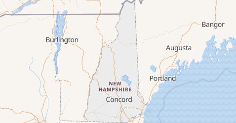 Carte de New Hampshire