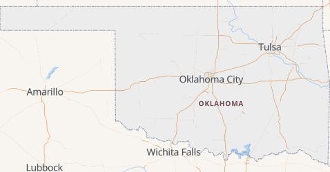 Carte de Oklahoma