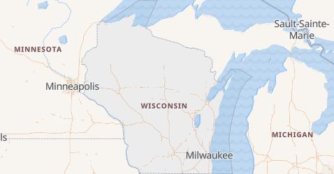 Carte de Wisconsin