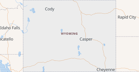 Carte de Wyoming