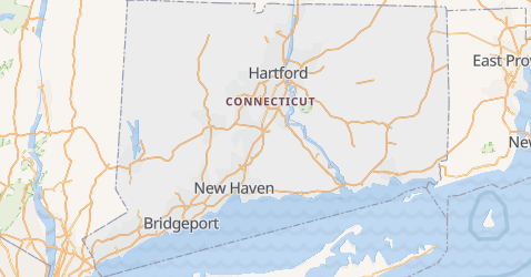 Mappa di Connecticut