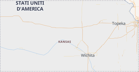 Mappa di Kansas