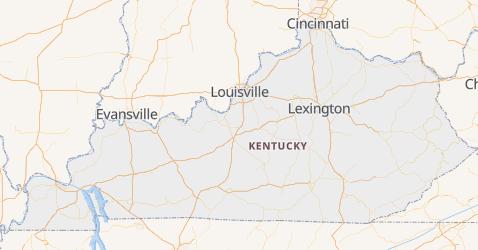 Mappa di Kentucky