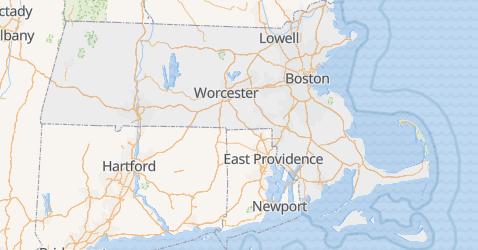 Mappa di Massachusetts