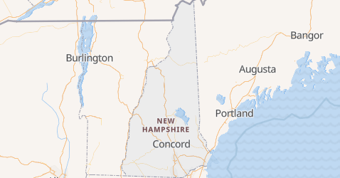 Mappa di New Hampshire