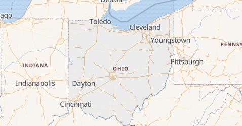 Mappa di Ohio
