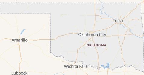 Mappa di Oklahoma