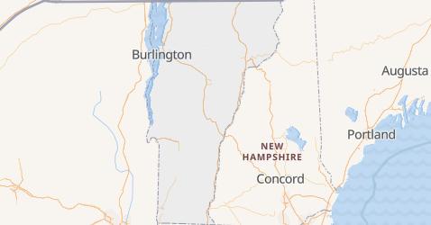 Mappa di Vermont