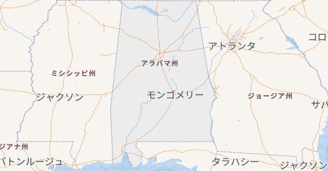 アラバマ州地図