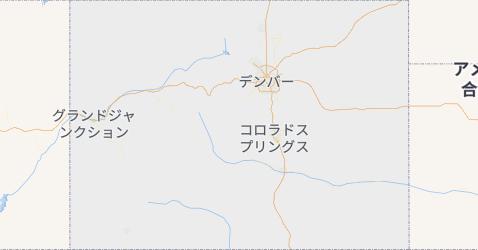 コロラド州地図