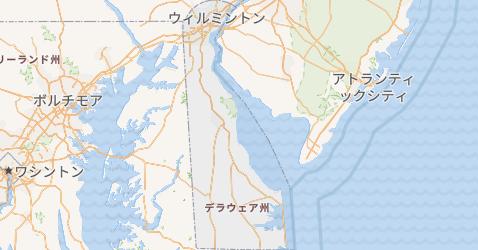 デラウェア州地図