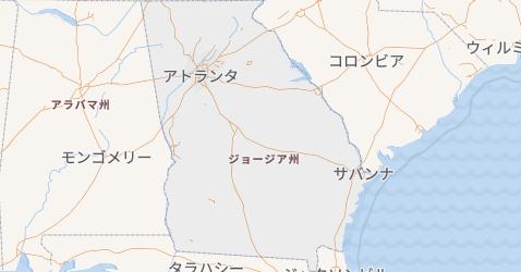 ジョージア州地図