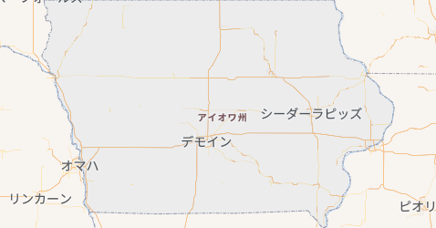 アイオワ州地図