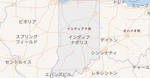 インディアナ州地図