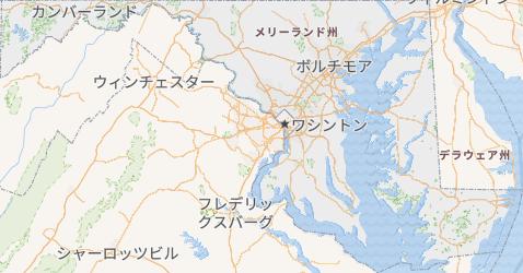 メリーランド州地図