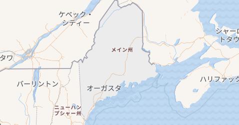 メイン州地図