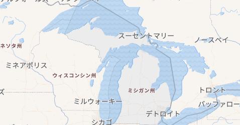 ミシガン州地図