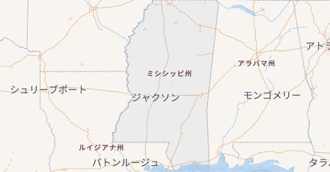 ミシシッピ州地図