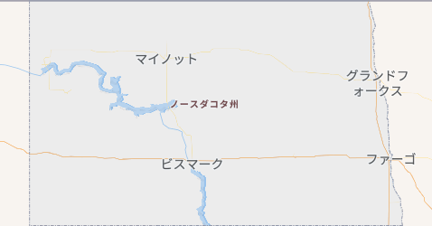 ノースダコタ州地図