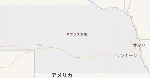 ネブラスカ州地図