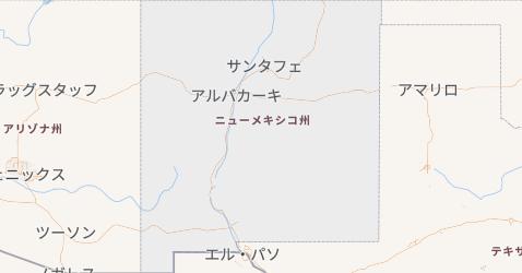 ニューメキシコ州地図