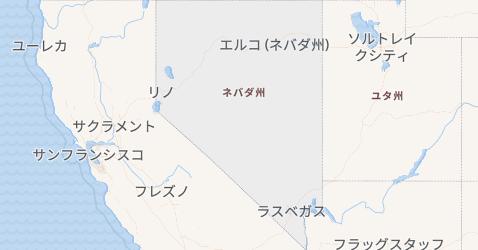 ネバダ州地図