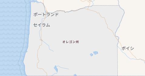 オレゴン州地図